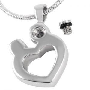 Zeer Zilveren gedenk sieraad moeder kind | Vriendschapshartje #VV05