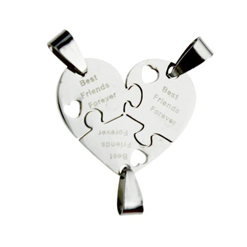 Best Friends Forever Puzzel Voor 3 Rvs Vriendschapshartje