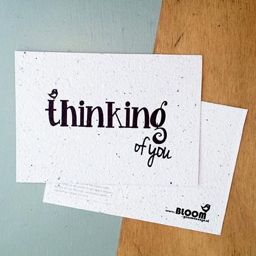 Thinking of you bloeikaartjes