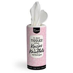 Tissues met kusjes en knuffels